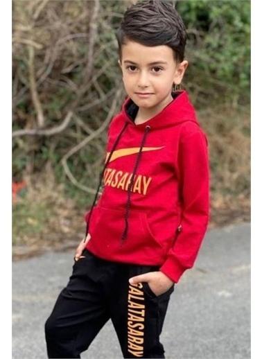 Riccotarz Erkek Çocuk Gs Taraftar Kapşonlu Eşofman Takım Sarı
